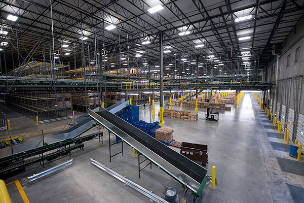 Industrial facility with mechanical systems