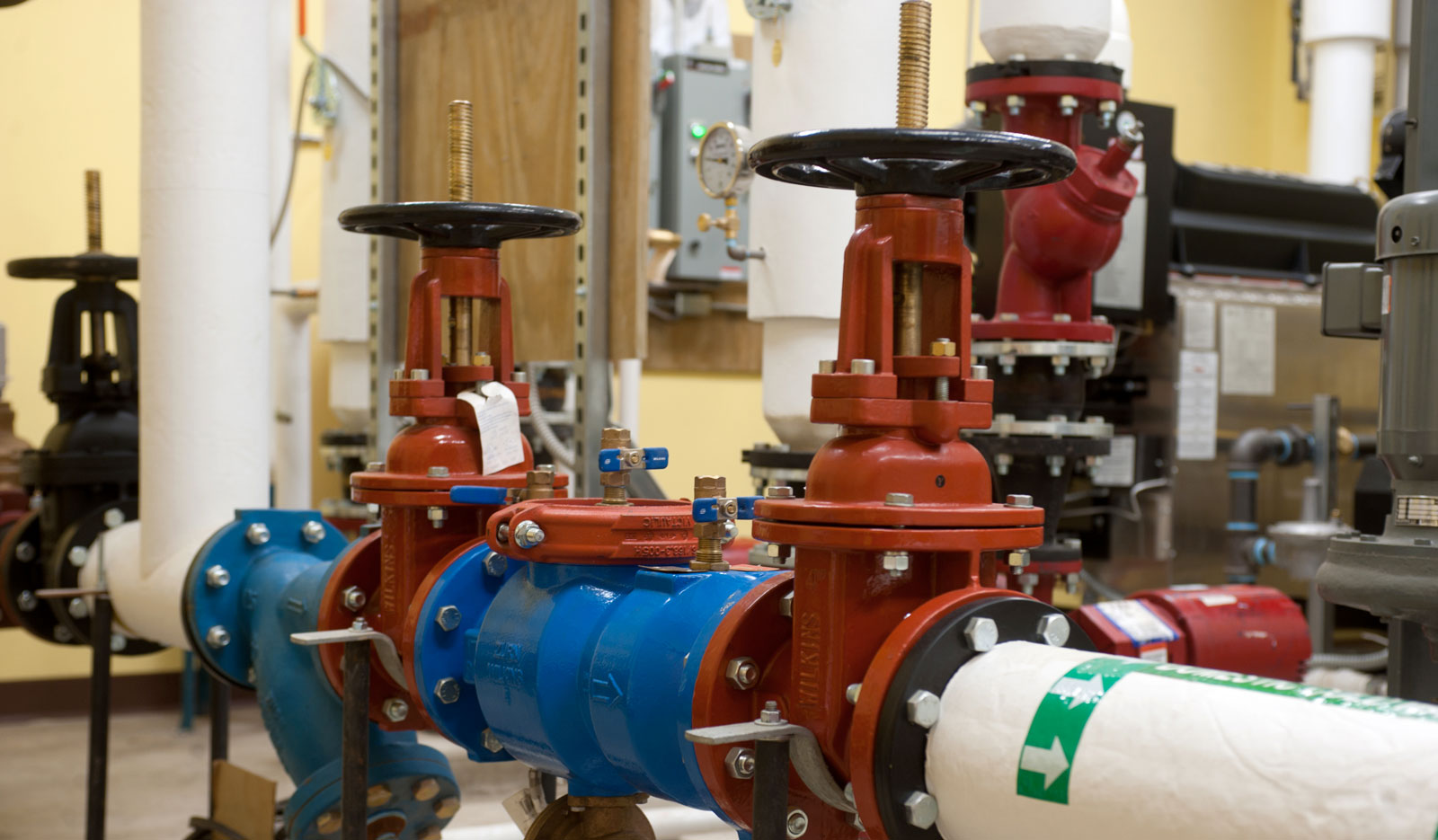 Fire protection system solution in a commercial facility